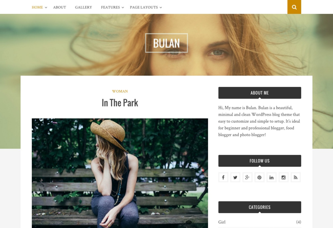 Bulan WordPress Theme