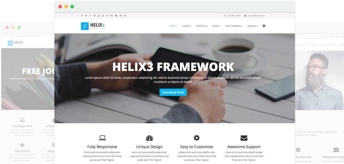 Top 11 joomla template framework for developer 2016 helix 3 framework pronofoot35fo Choice Image
