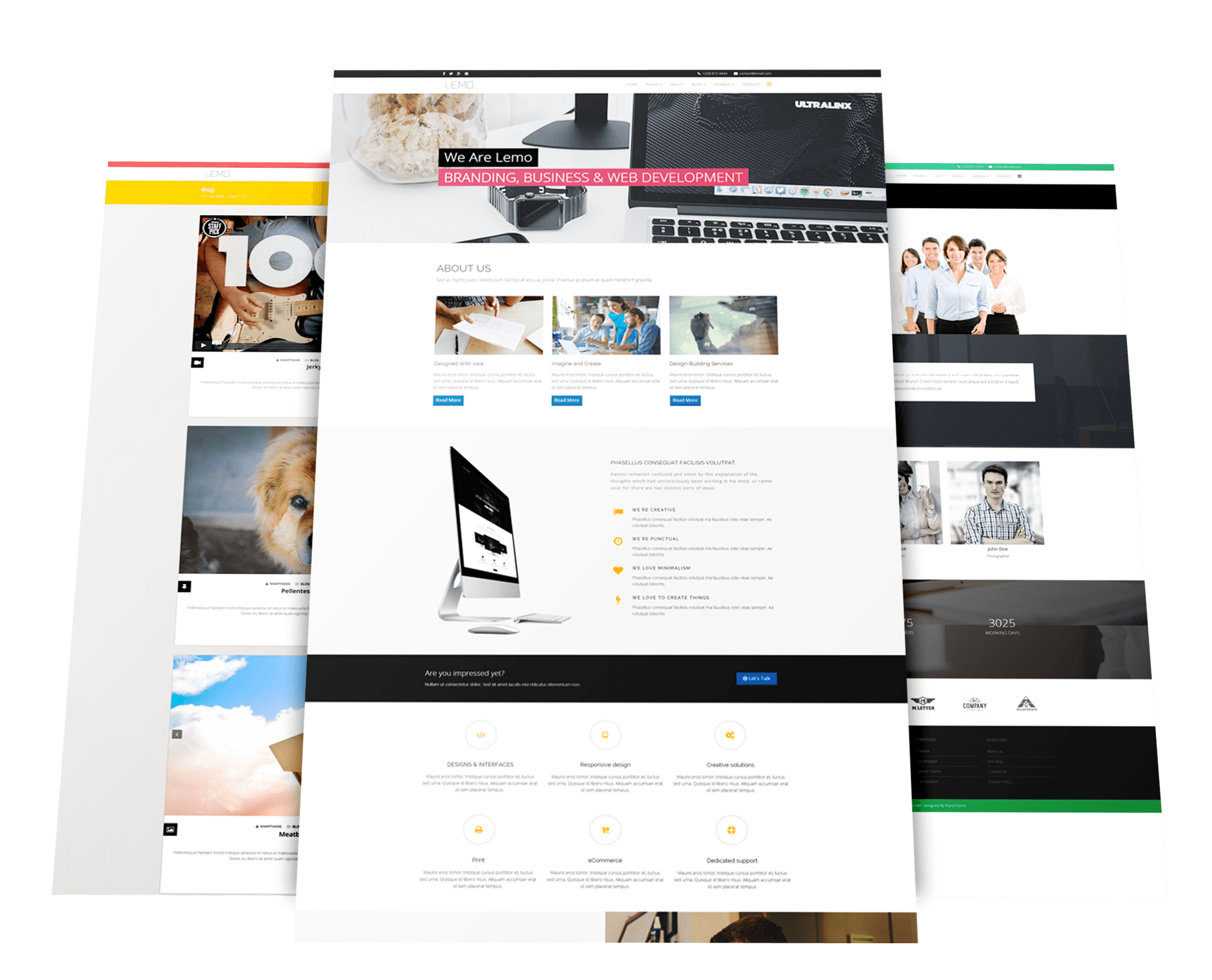 Free business joomla template wt lemo flashek Gallery