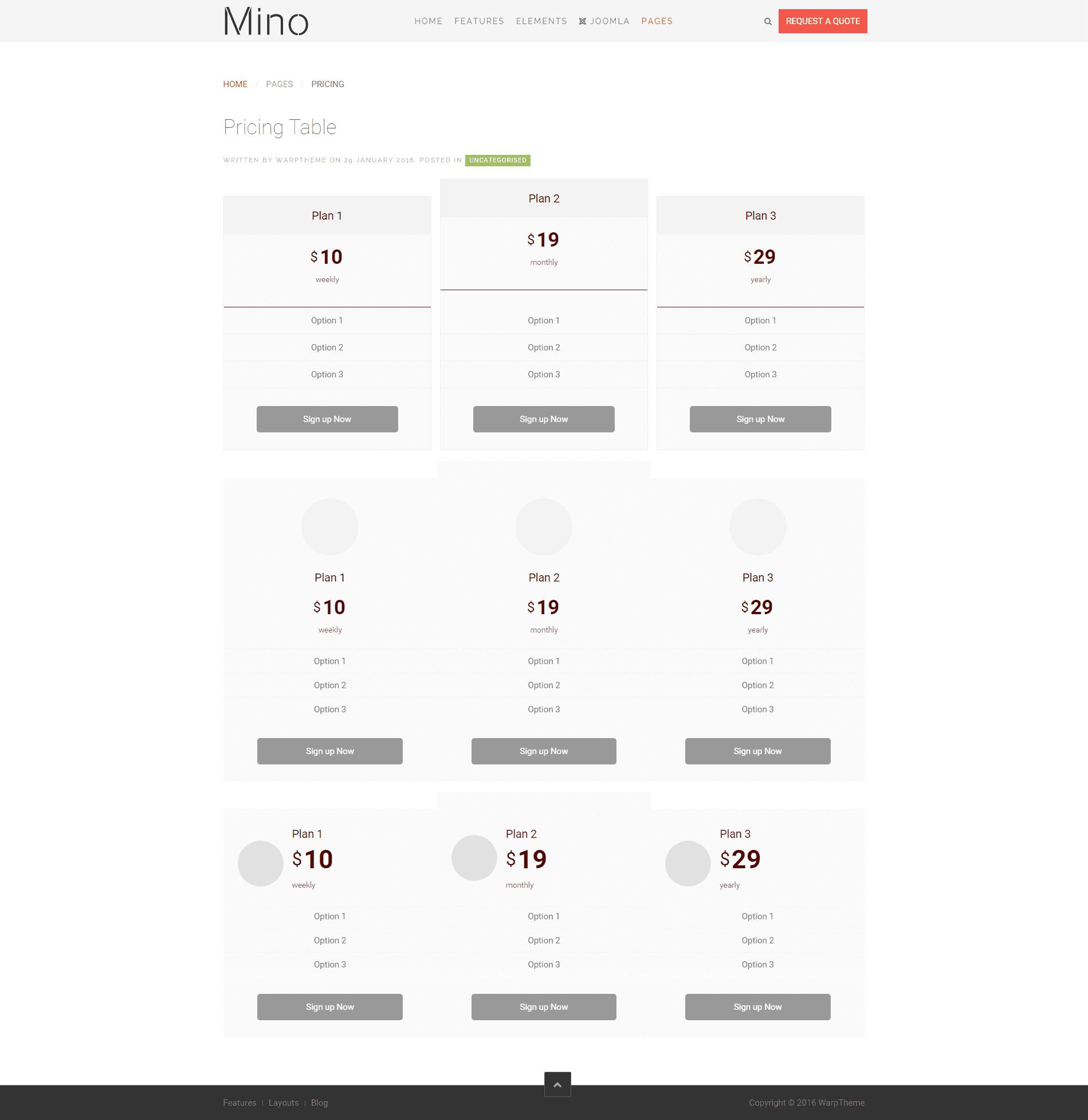Mino Pricing