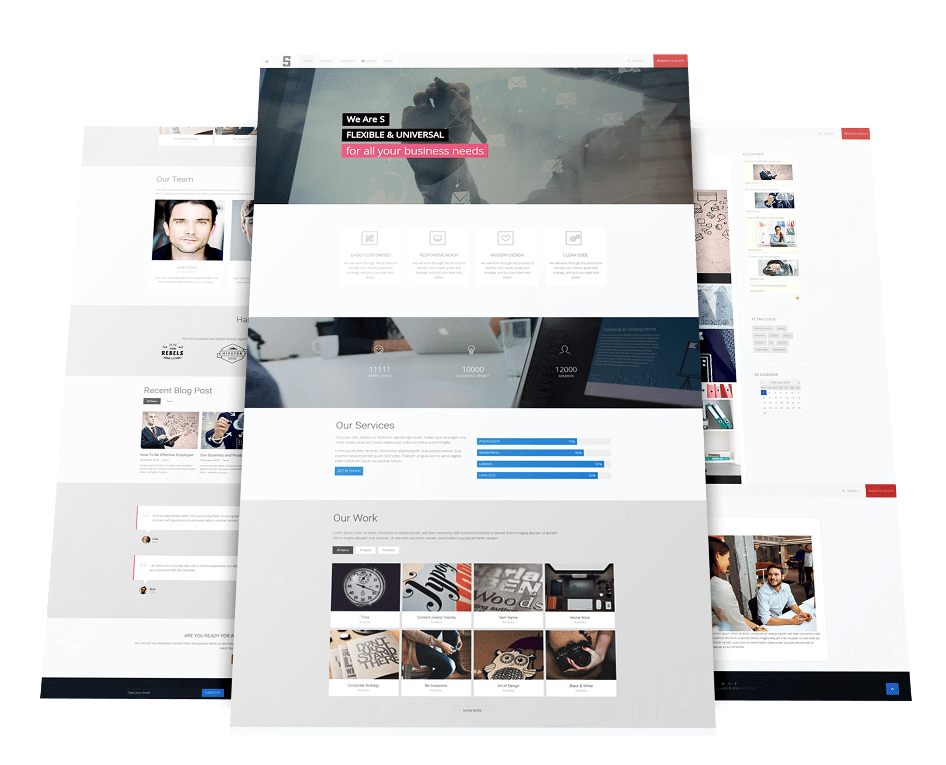 Free responsive joomla template s warptheme for Jooma templates