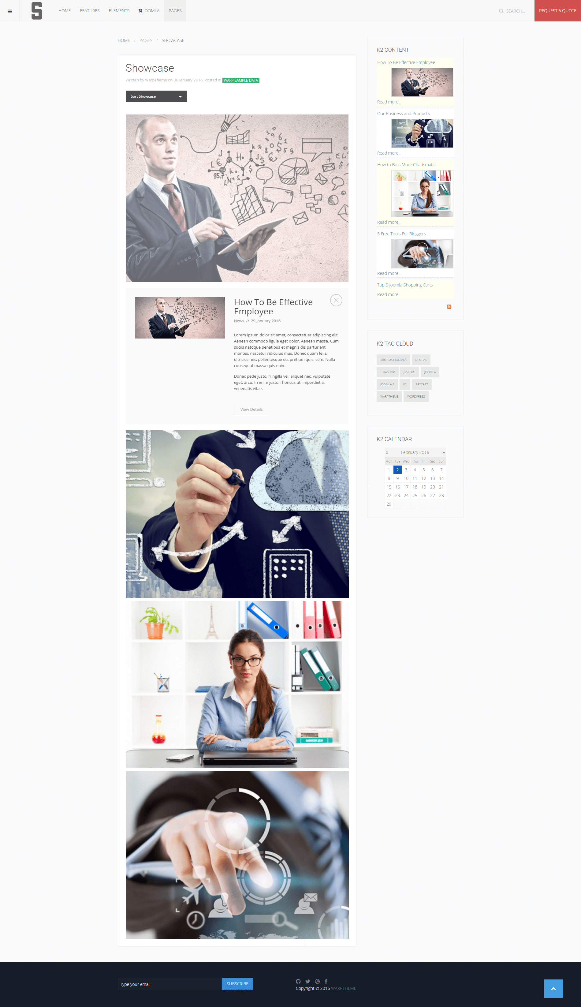 S Showcase page