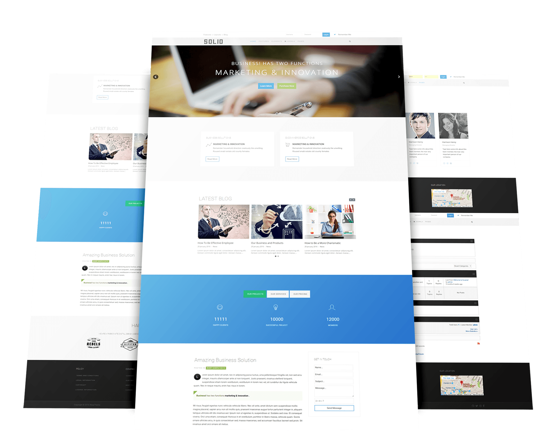 Solid joomla template for business warptheme for Jooma templates