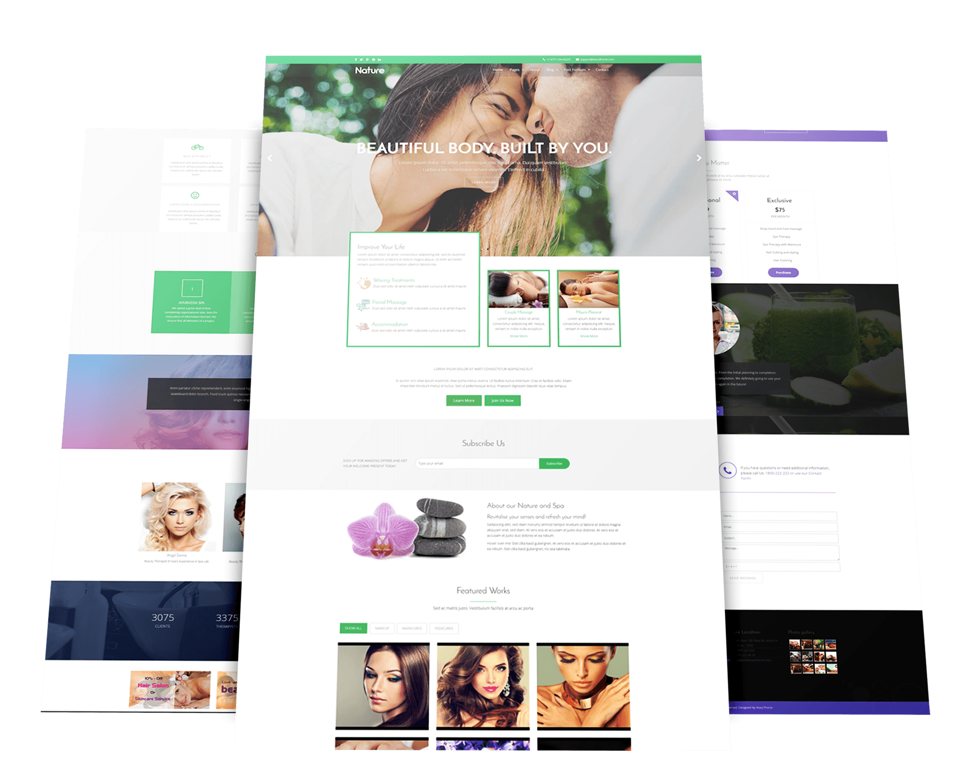 Spa Joomla Template