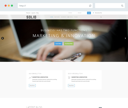 Solid Joomla Template for Business