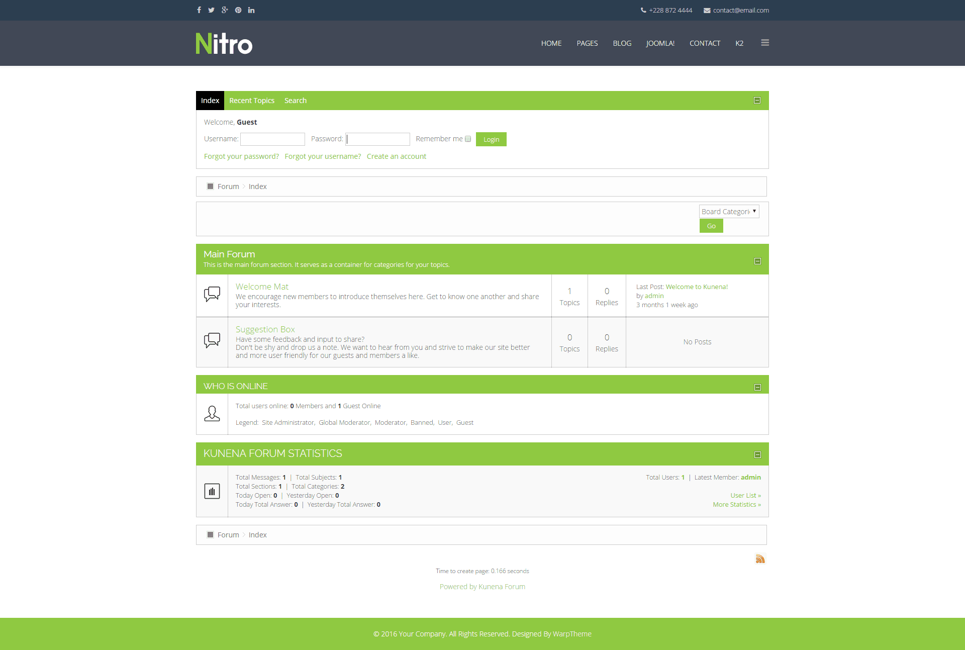 Nitro joomla template documentation warptheme for Joomla templates with sample data