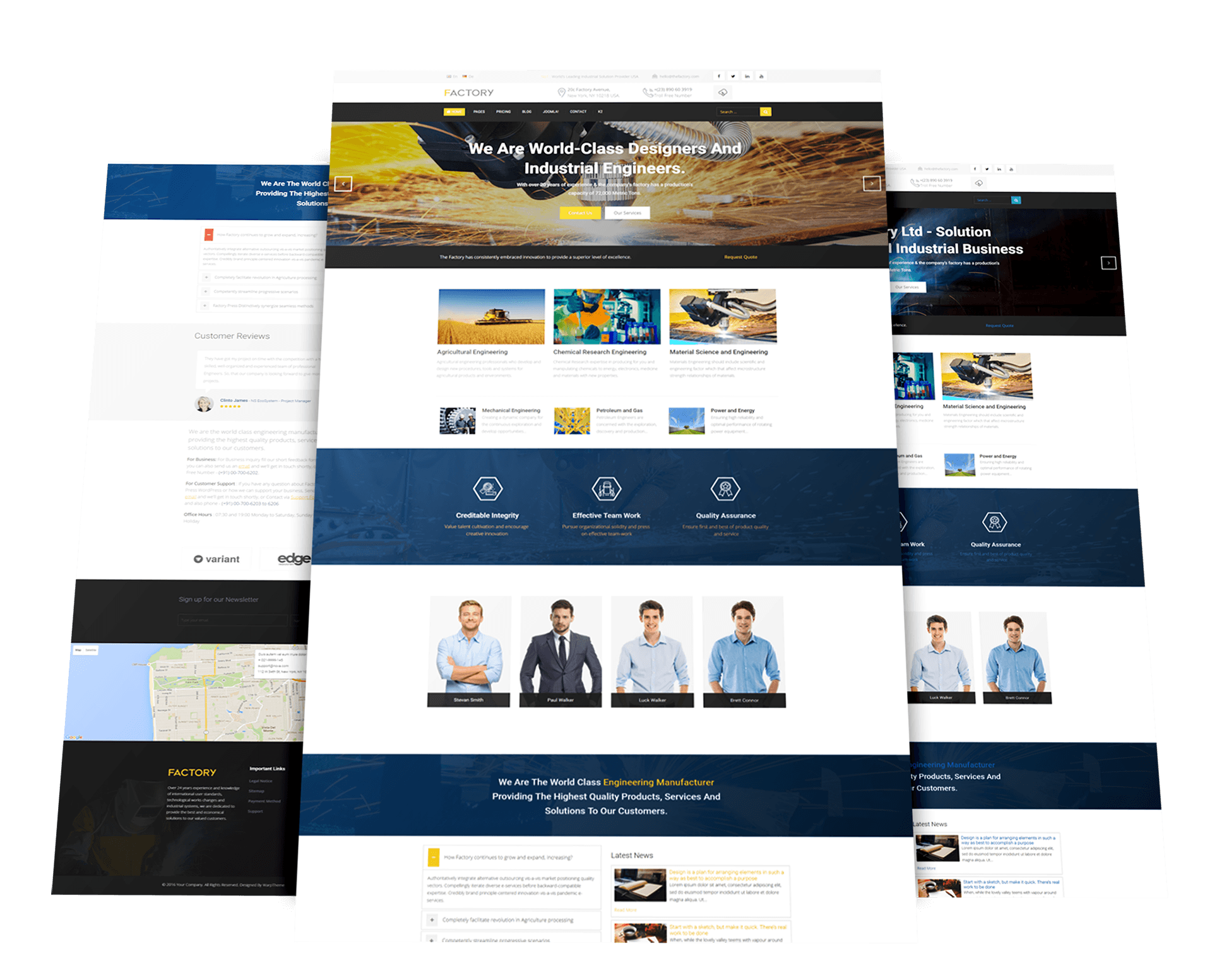 Factory industrial business joomla template flashek Gallery