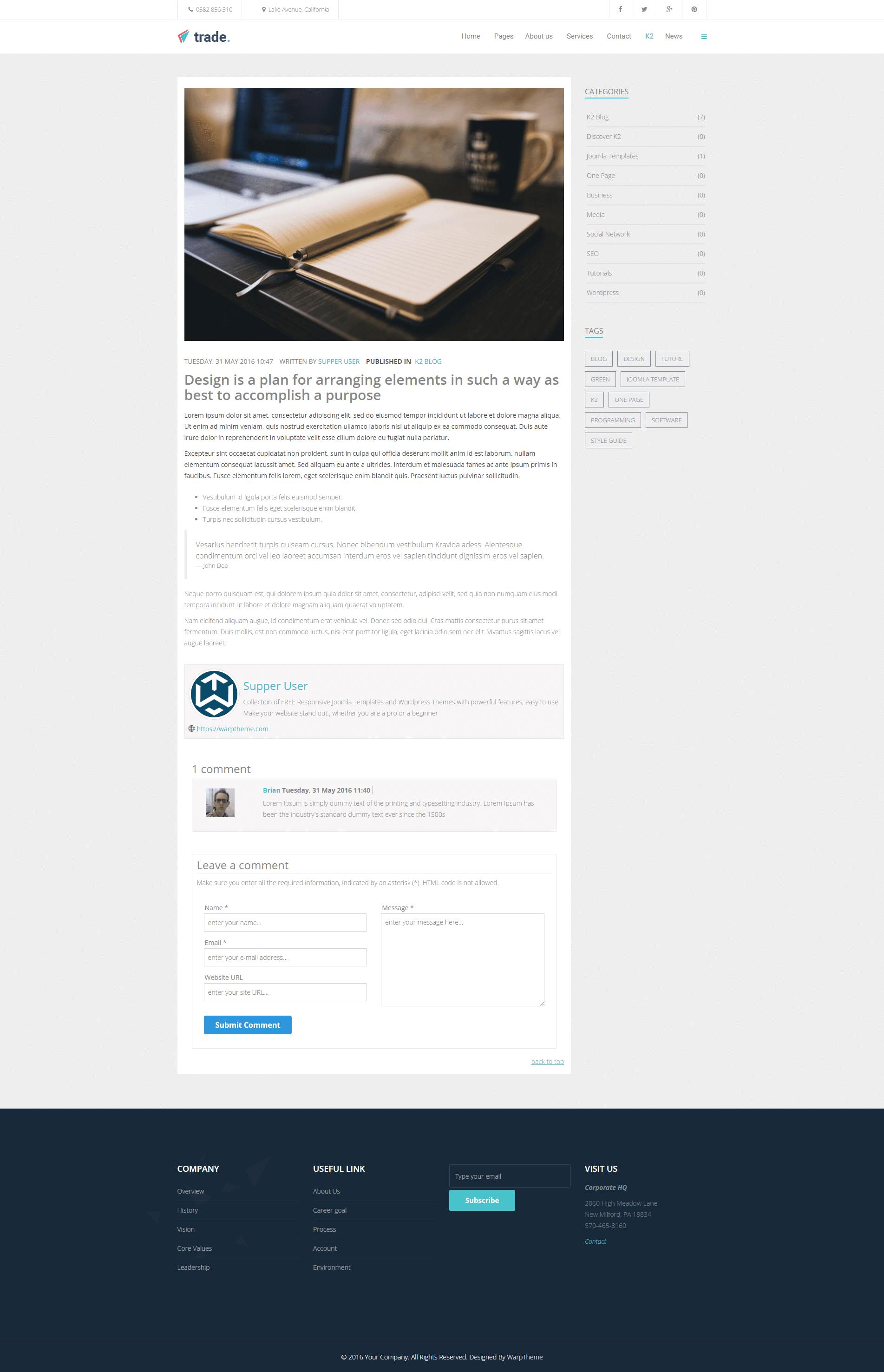K2 page detail
