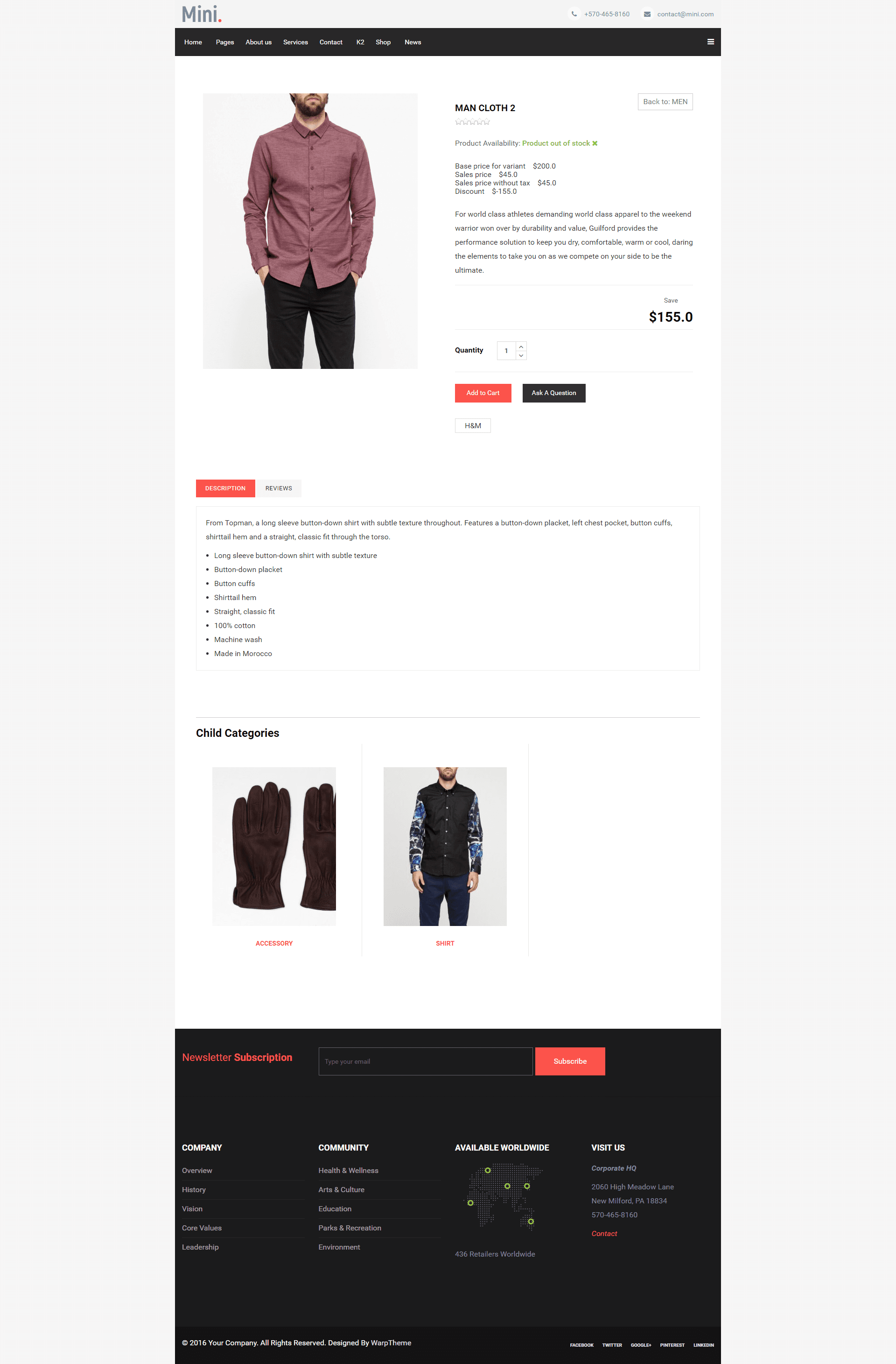 Mini Product Details