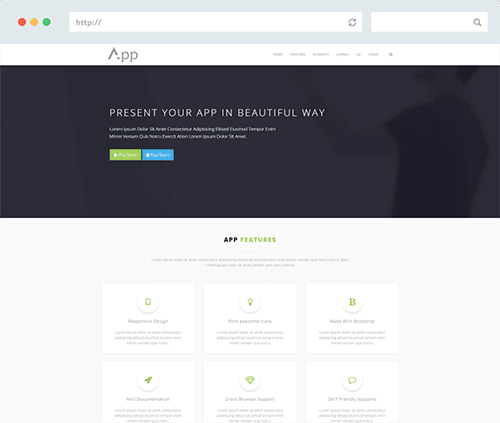 Wordpress Landing Template
