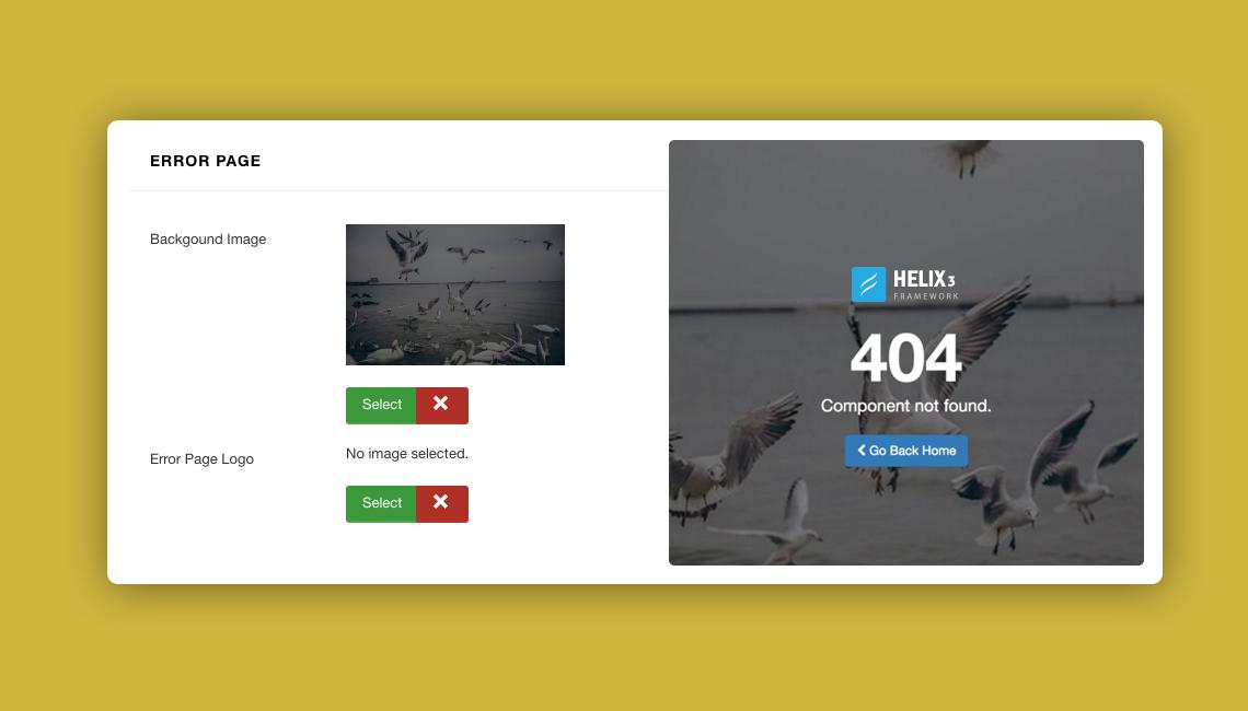 Joomla Custom error page
