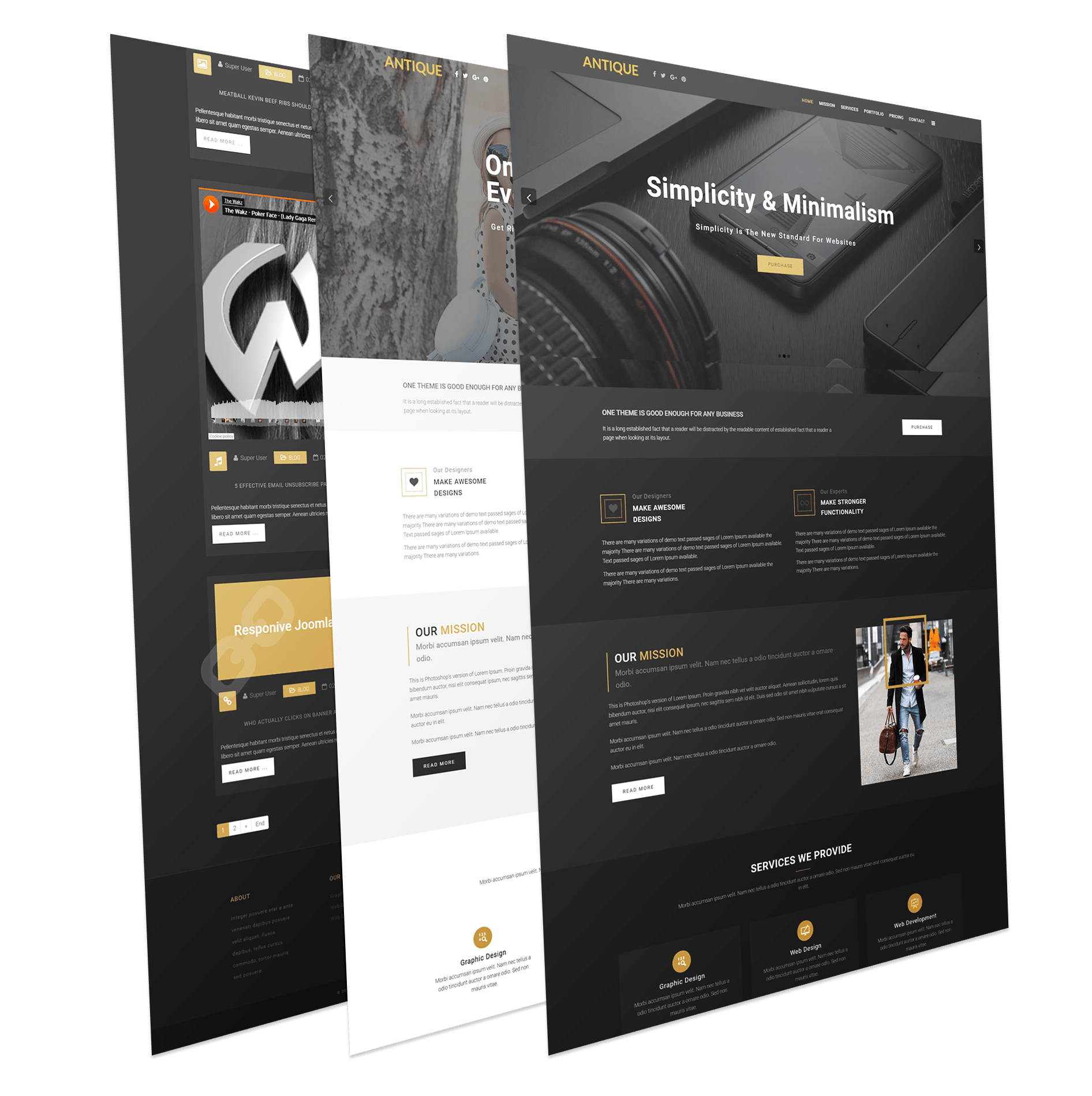 One Page Joomla Business Template