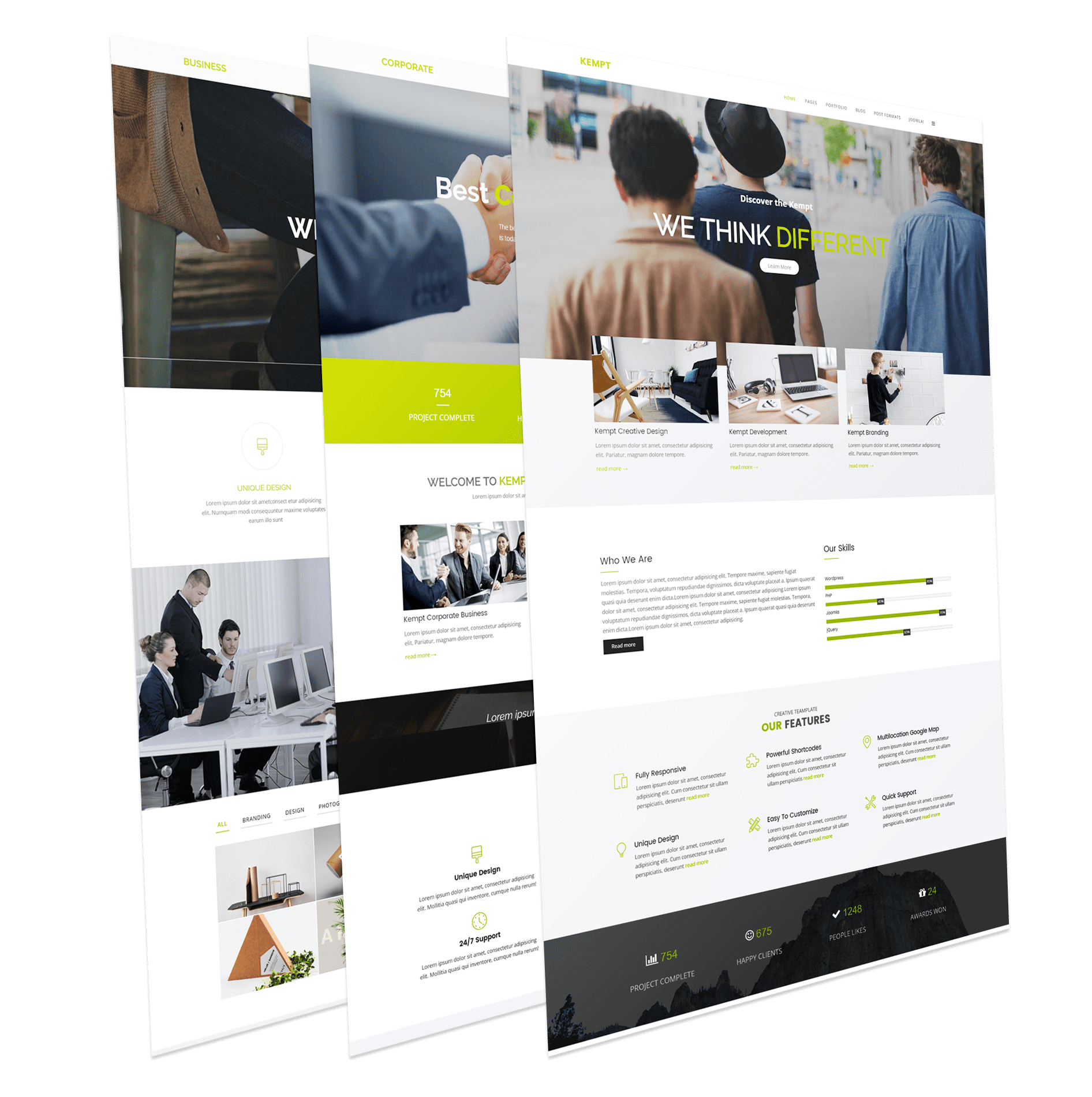 Kempt - Free Creative Multi Concept Joomla Template