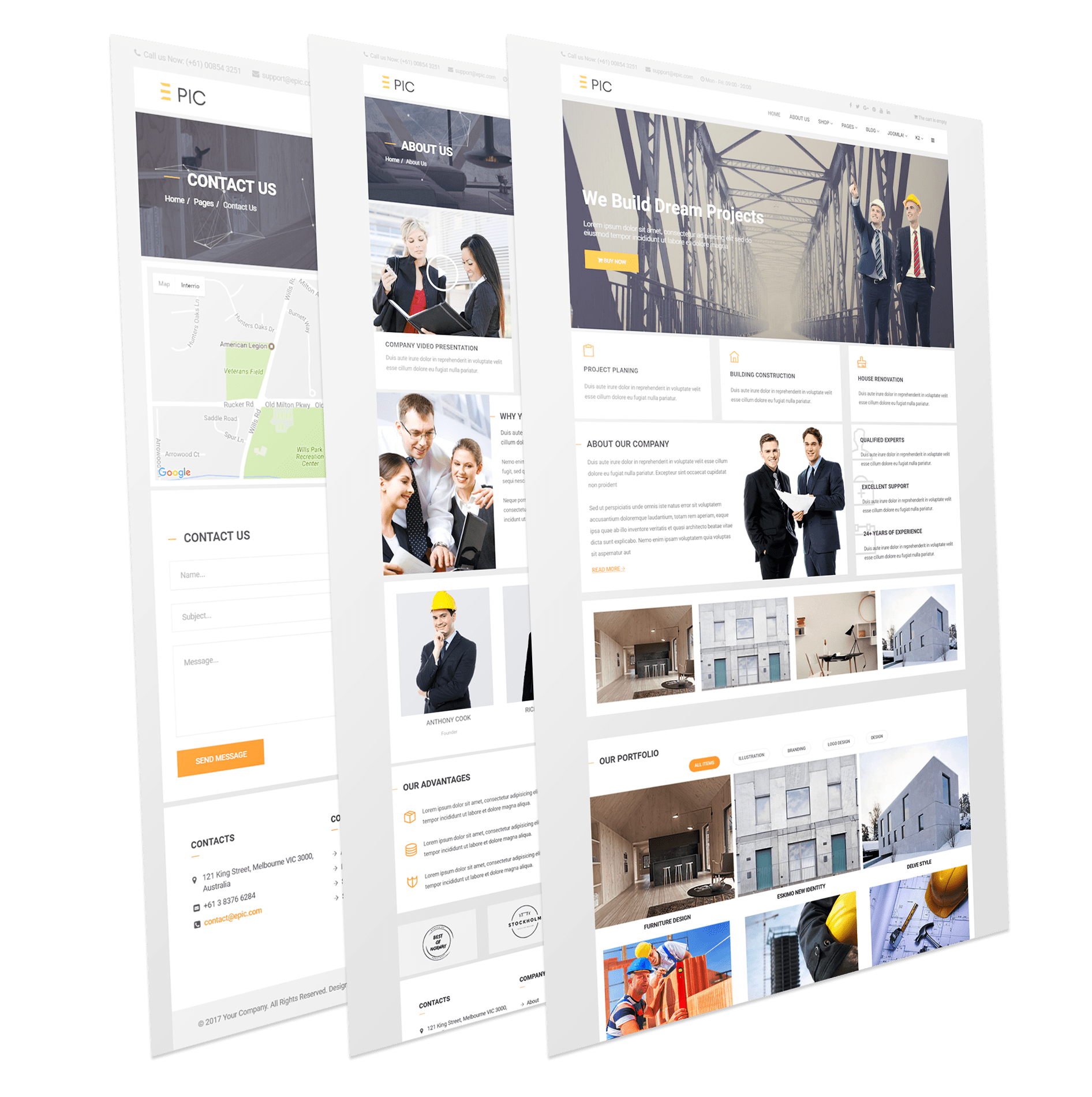 Epic - Industrial Responsive Corporate Joomla Template