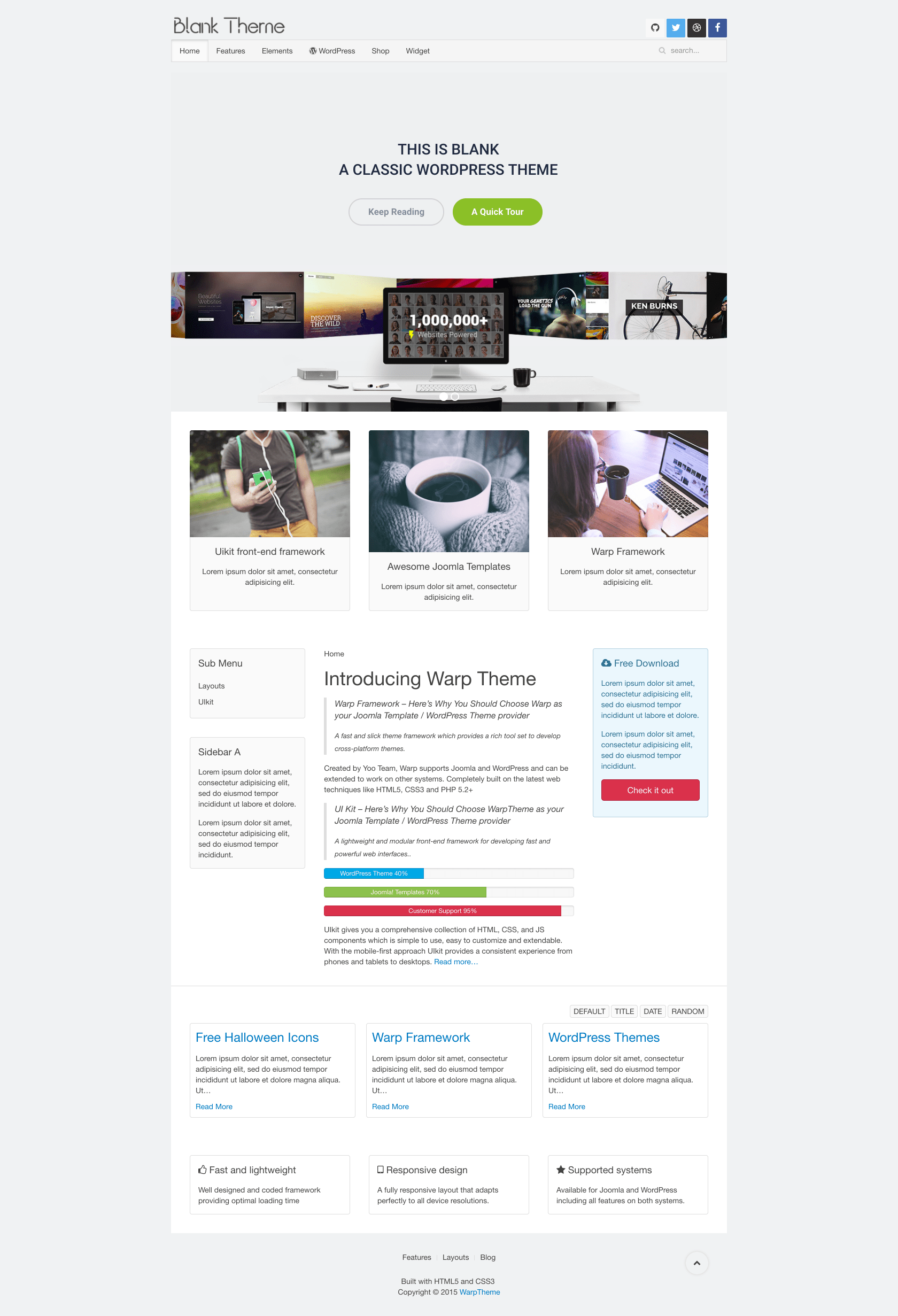 Blank Wordpress Documentation • WarpTheme
