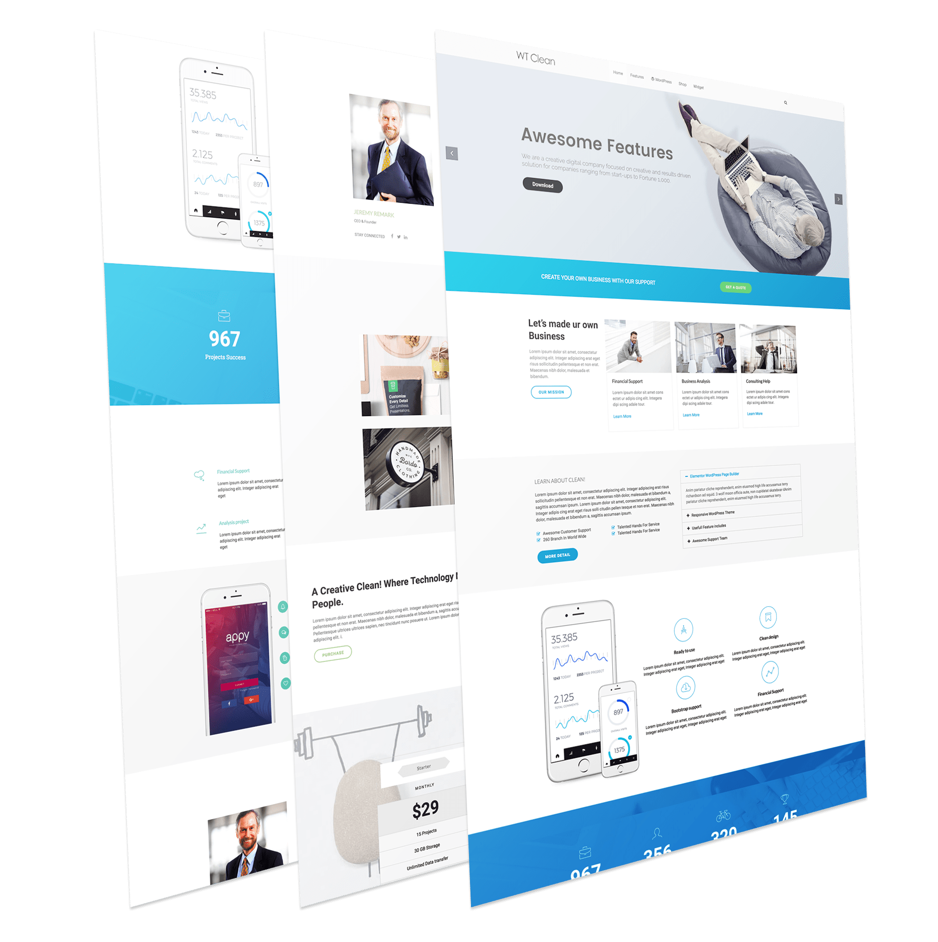 Business wordpress theme wt clean business wordpress theme cheaphphosting Images