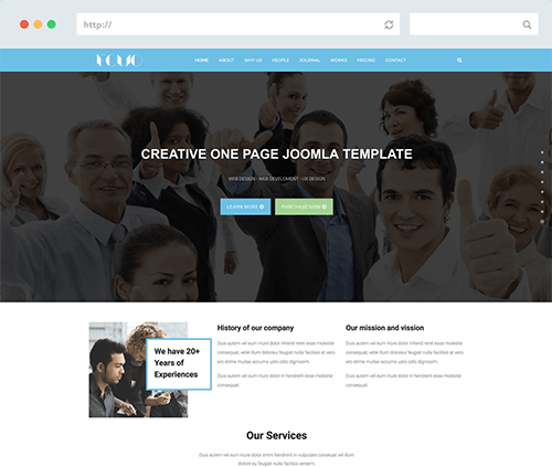 One-Page Joomla Template