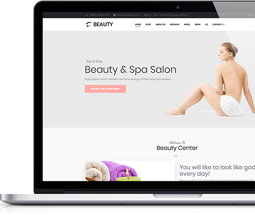 Beauty & Spa Salon Jomla Template