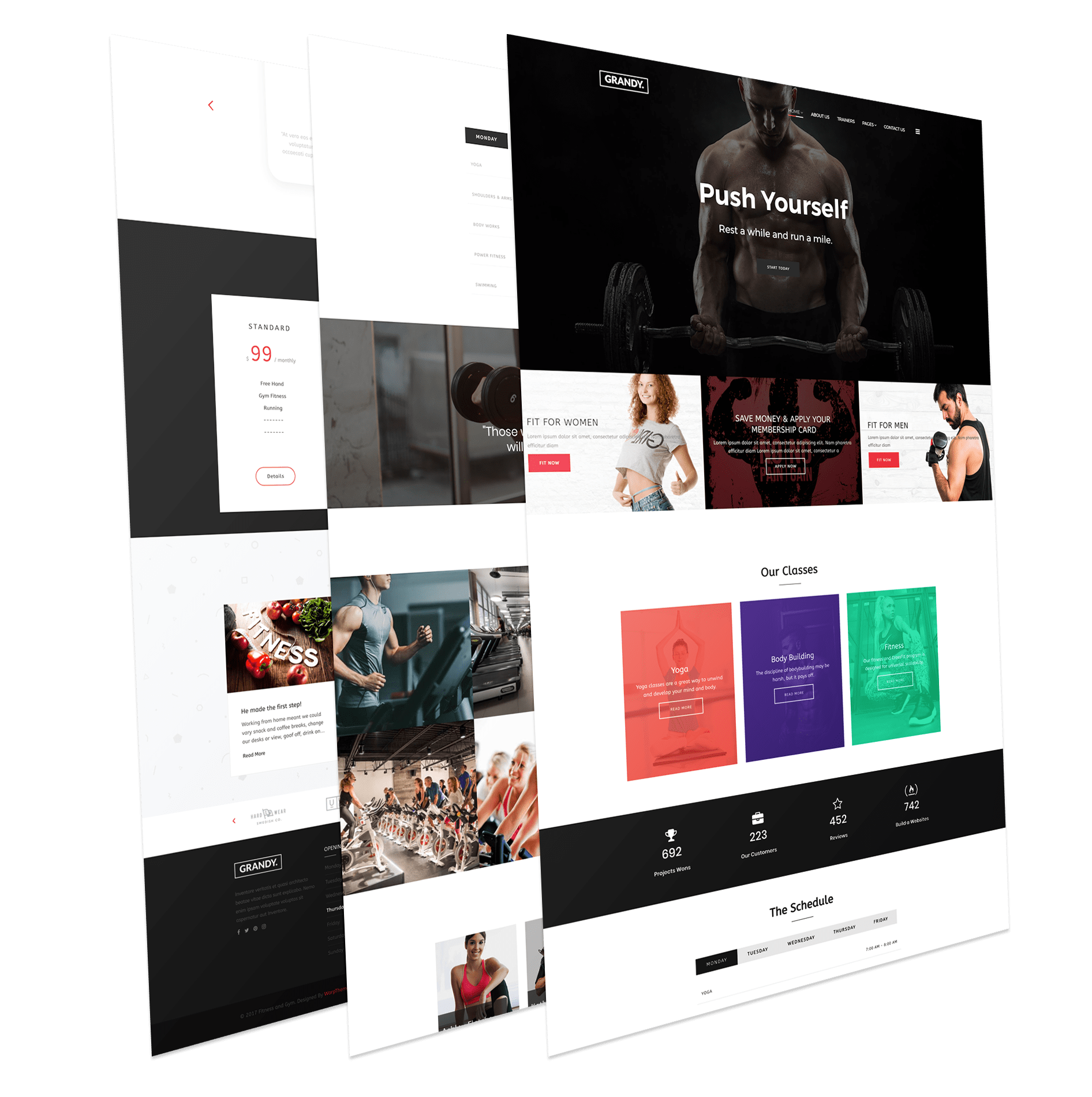 Responsive gym and fitness template