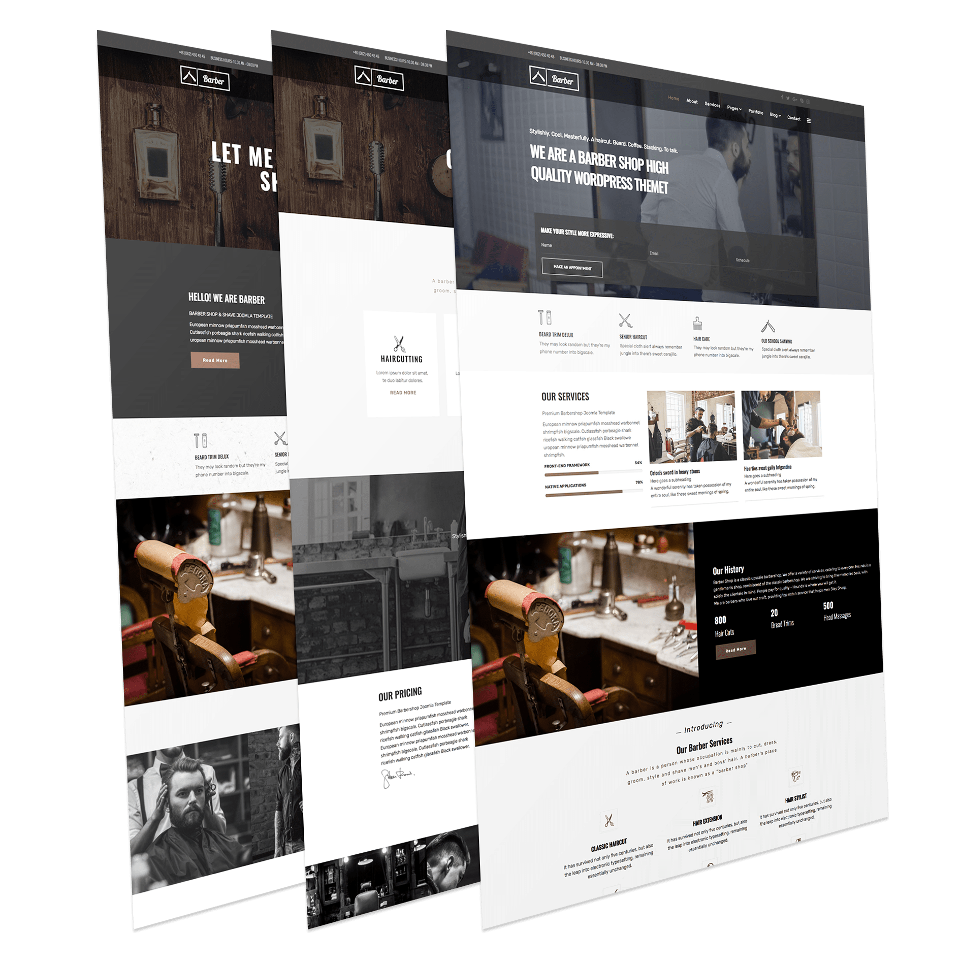 Barber Joomla Template