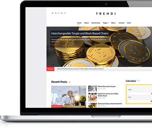 Cryptocurrency & Mining Joomla Template