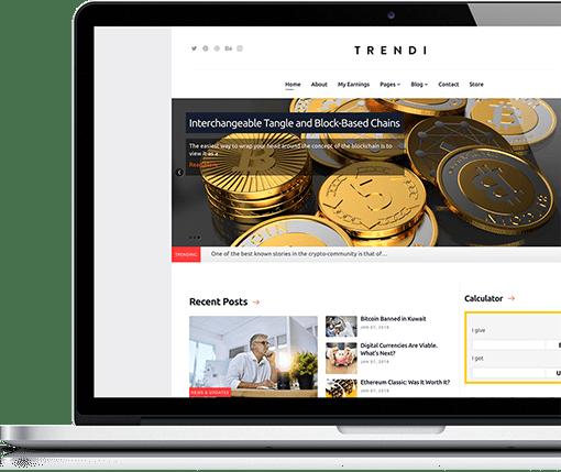 Cryptocurrency & Mining Joomla Template