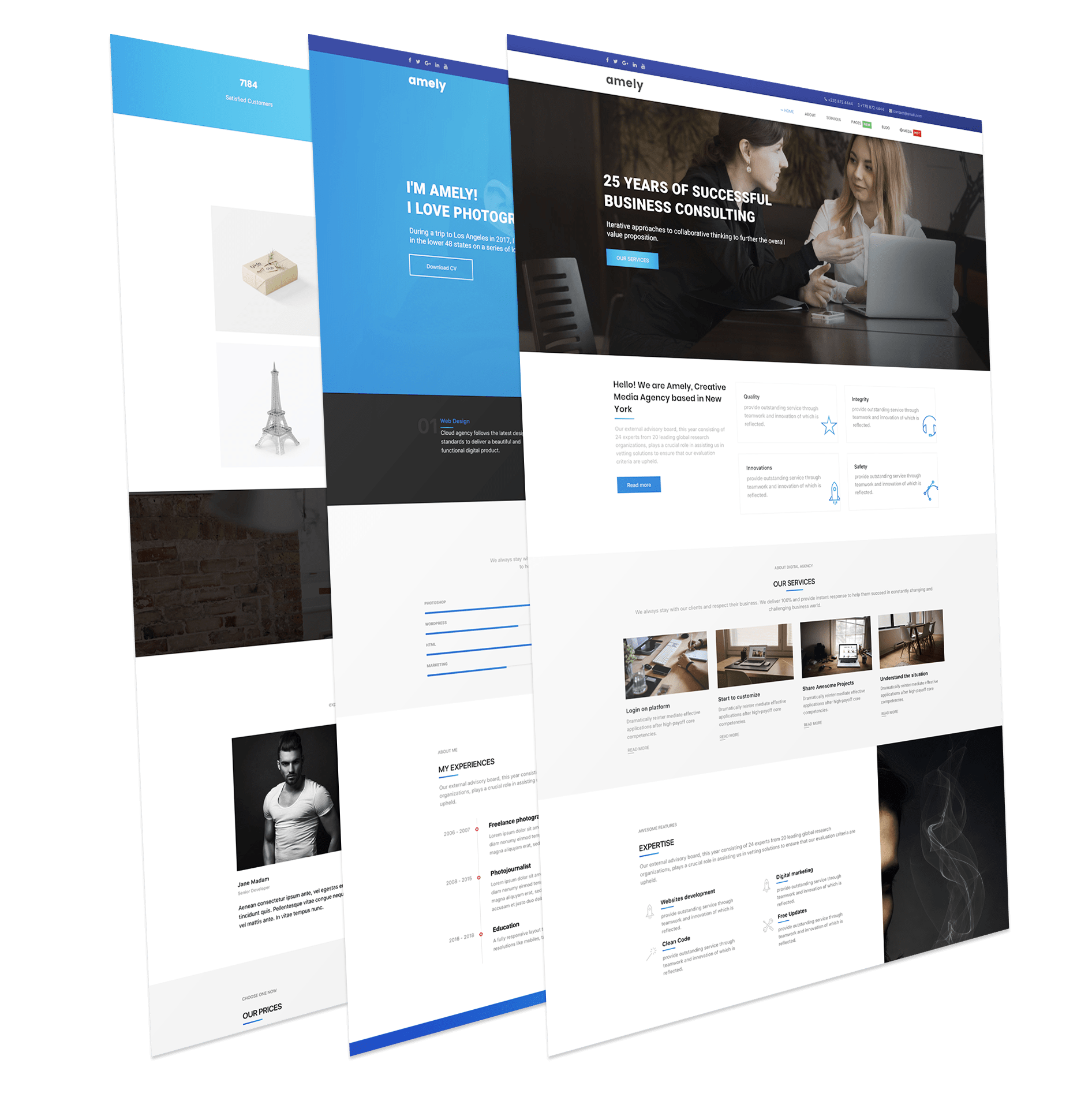 Amely Free Unique And Modern Joomla Template