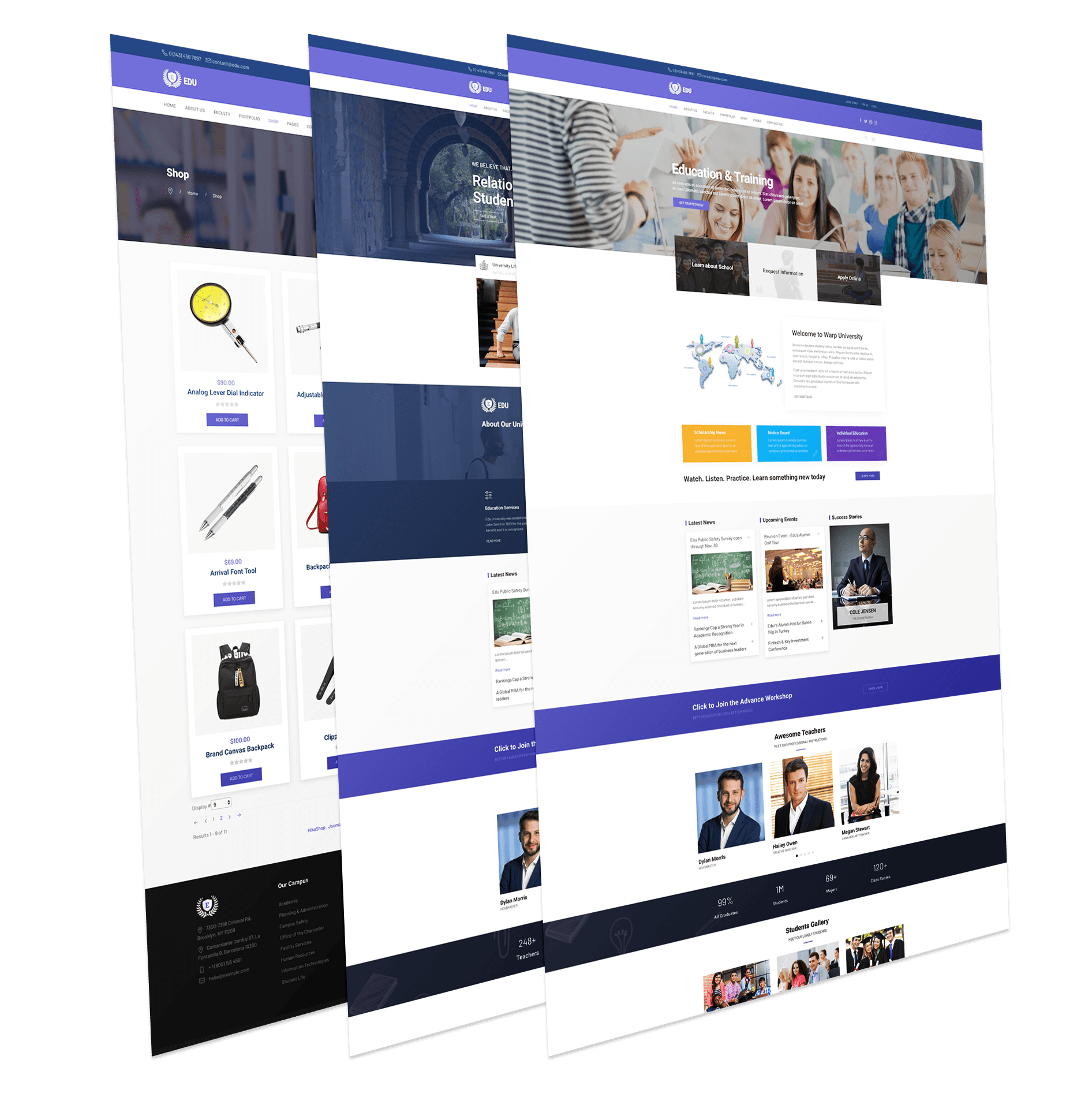 WT Edu - Responsive Education Joomla Template