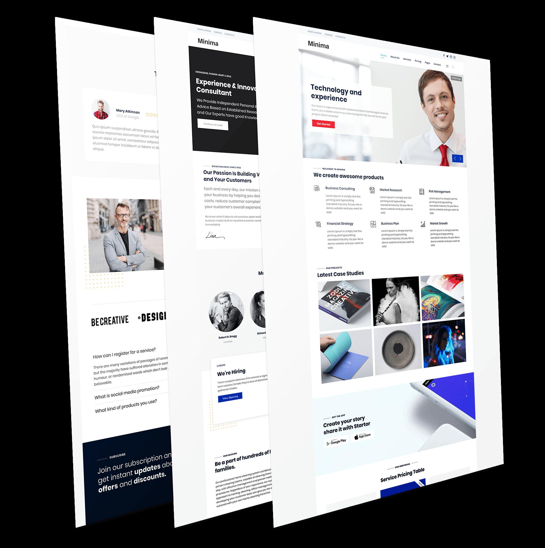 Minima - Responsive joomla template for business