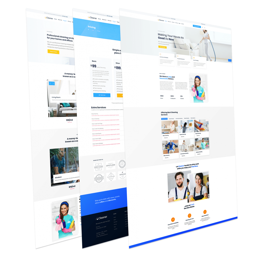 Cleaning Services Joomla Template