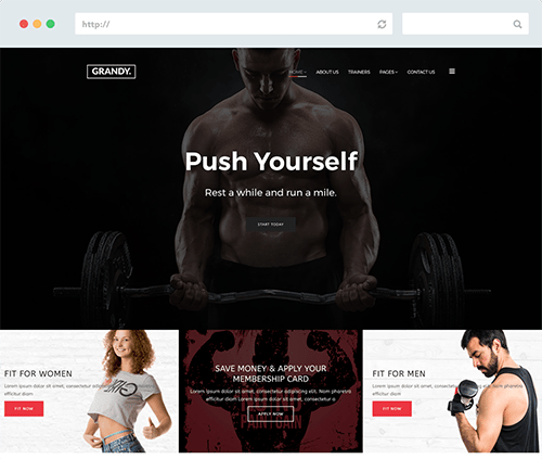 Gym Joomla Template