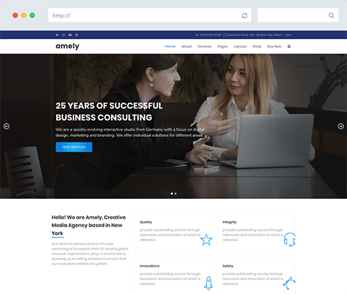 Amely WordPress Theme