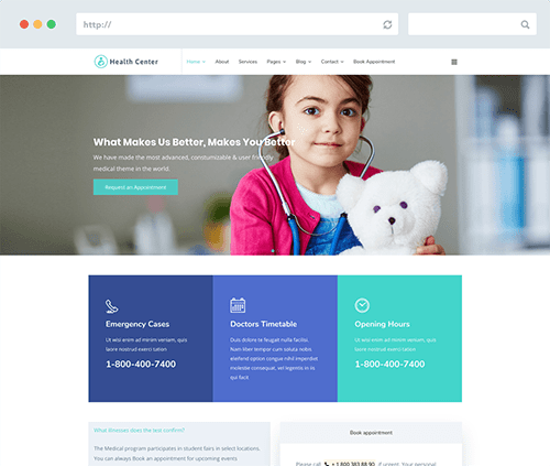 Health Joomla Template