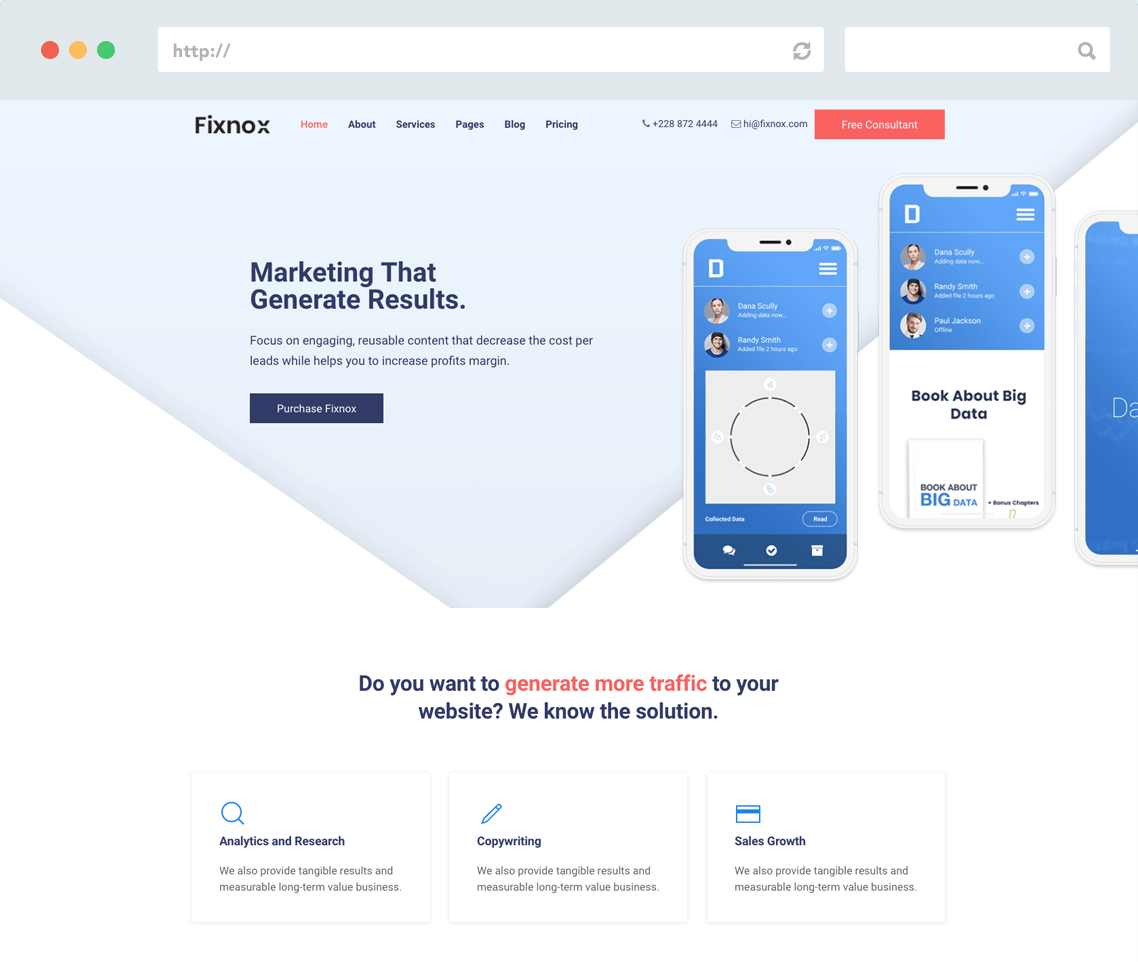 Marketing Joomla Template